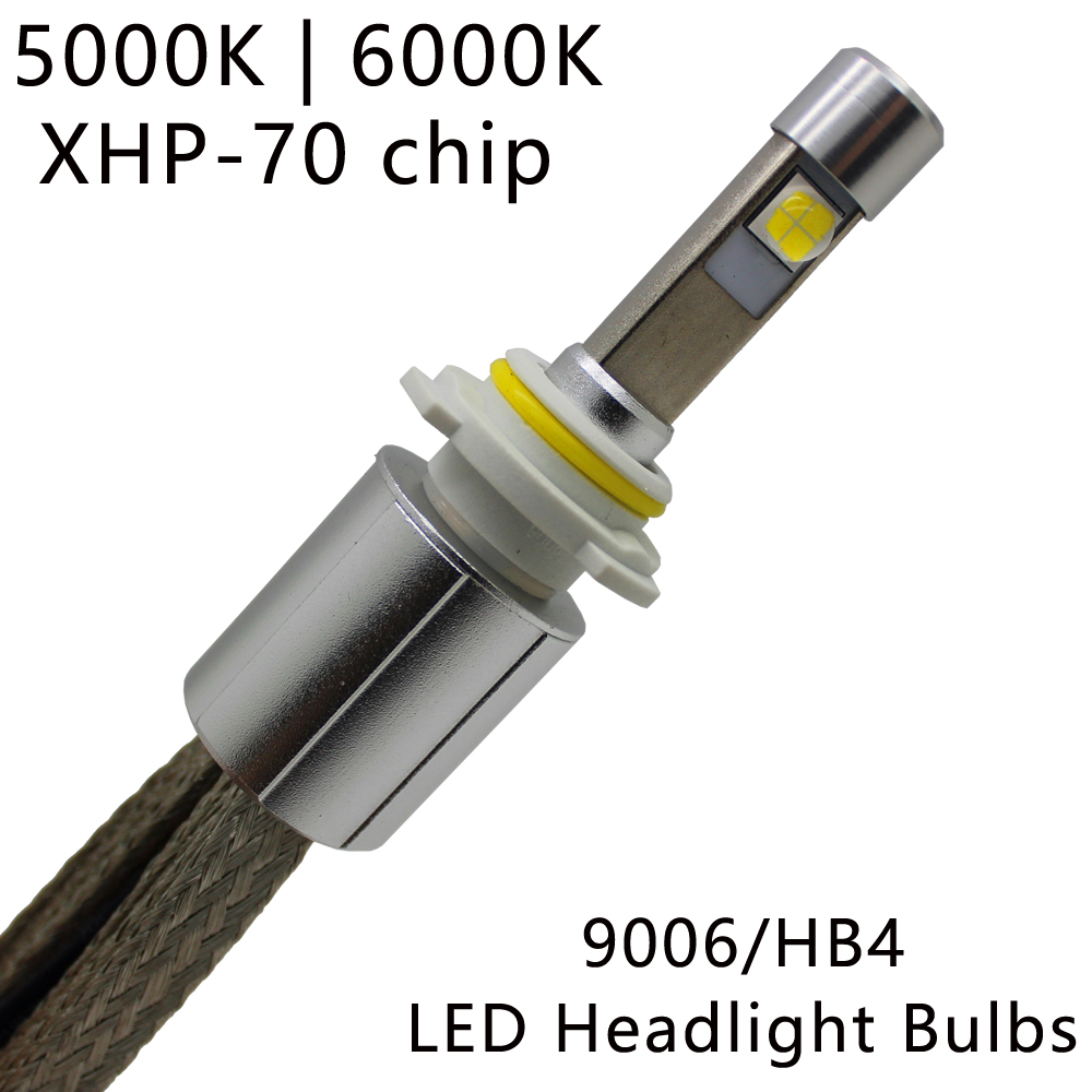 Ocsion <font><b>P70</b></font> 9006 HB4 светодиодные фары автомобиля 12 В фары 55 Вт 6600LM 5000 К 6000 К фар авто туман свет комплект H4 H7 H8 H9 H11 9005 HB3