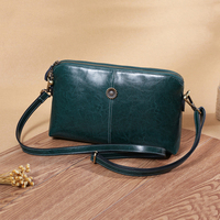 Vintage Genuine Leather Clutch Bags Shoulder Bag Women's Fashion Crossbody Bags Small Day Clutches Female Handbags Purse Wallet