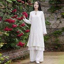 Сплошной Белый Розовый С Длинным рукавом Белье Женщины Длинное Платье Китайский Фирменный стиль Дизайн Летнее Платье Каваи Милые Vestidos Robe Femme B130