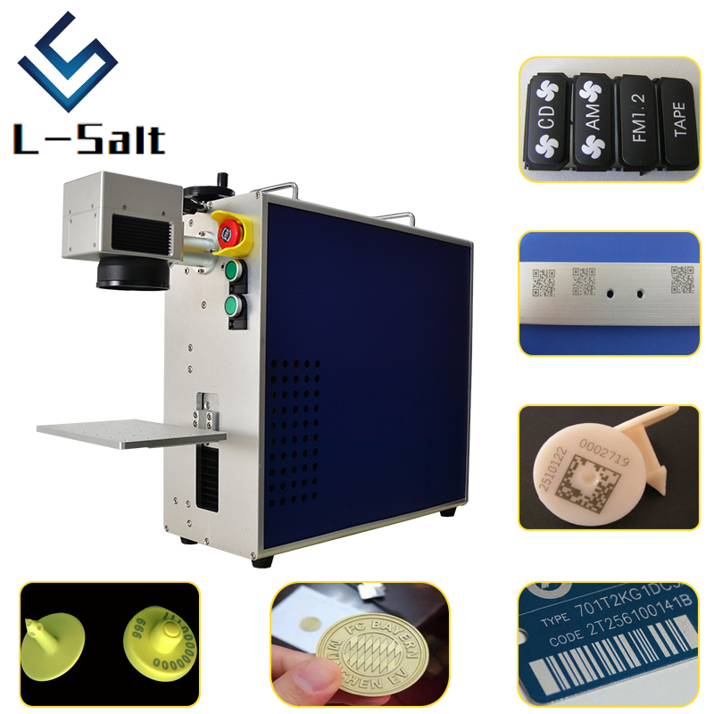 Gold And Silver Laser Engraving Machine  Black Marking On Aluminum Colors Marking On Steel Machine