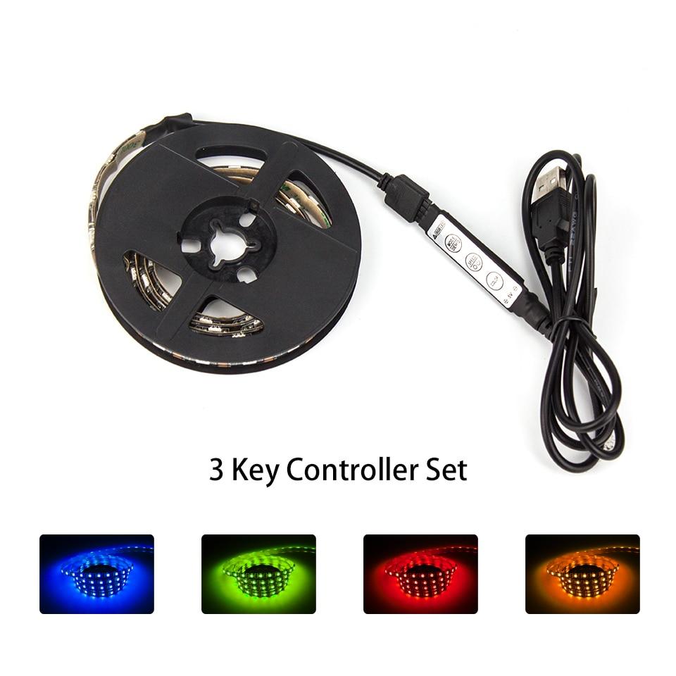 DC5V USB жарық диоды 5050 RGB Икемді жарық 1M 2M - LED Жарықтандыру - фото 2