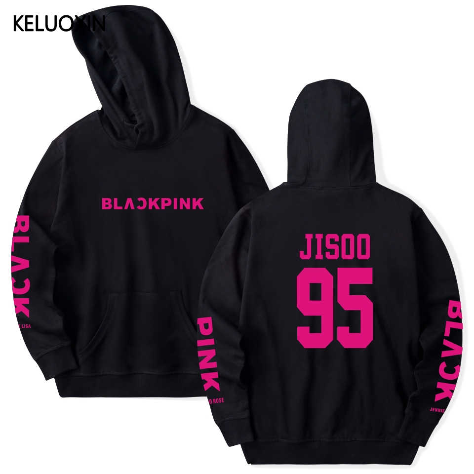KELUOXIN Kpop Hoodies Women/Men Member Name Print Hoodie Pullover Sweatshirt Womens Rose JISOO Tracksuit Moletom Blackpink Album