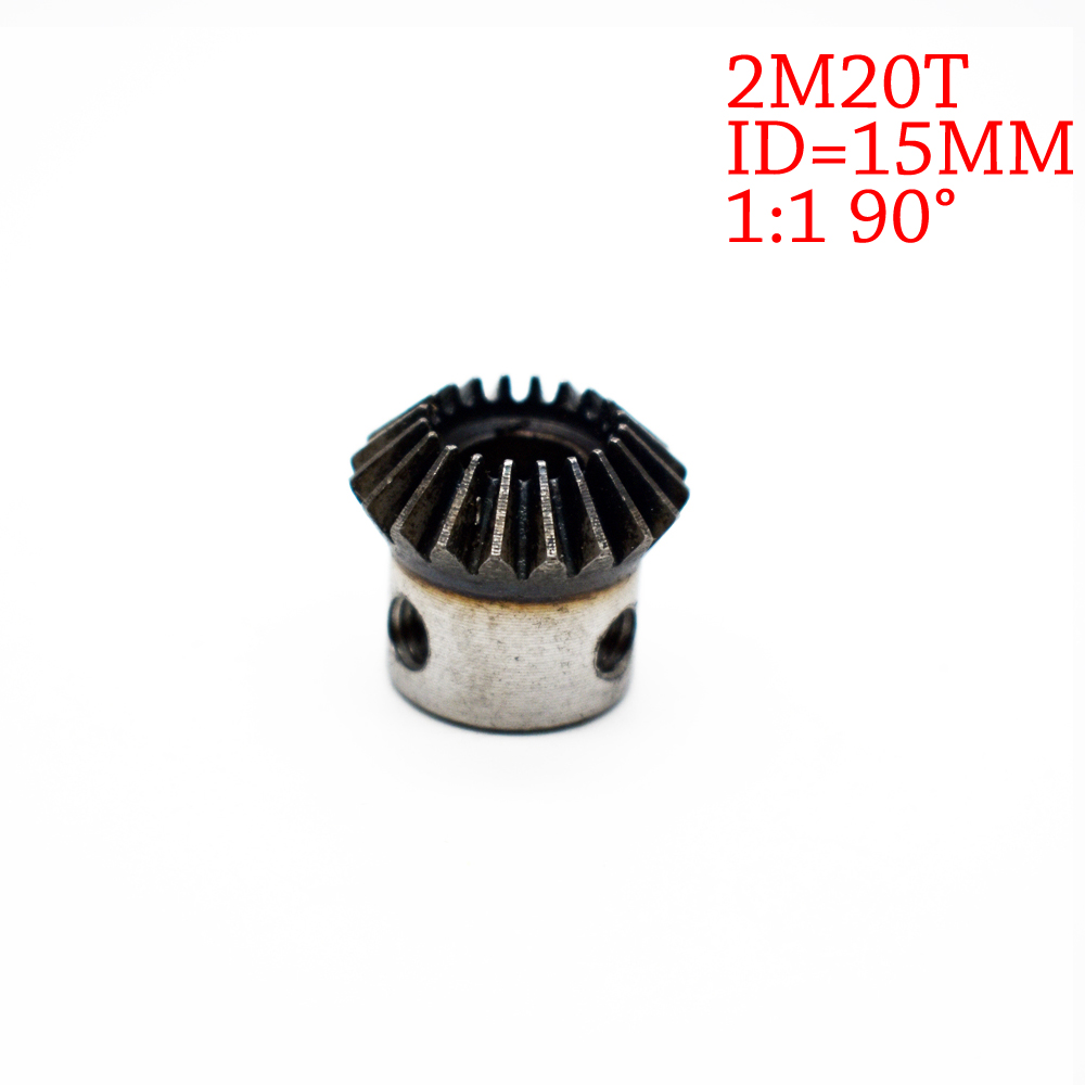 1Pc 15mm 1:1 Bevel Gear 2 Modulus 15mm inner Diameter Silver 20 Teeth 45 Steel Tapered Bevel Gear Wheel Top Screws M5 9 teeth bevel gear and 33 teeth bevel gear suit for rear axle differential diff for cfmoto cfx8 800cc atv utv engine parts