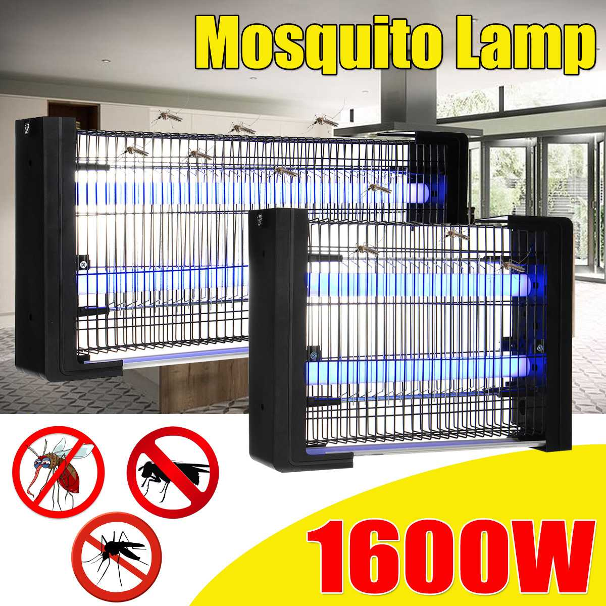 220V Electric Shock Fly Bug Zapper Mosquito Insect Killer Led Lamp 3/6W Energy Saving Anti Mosquito Repellent Lamp