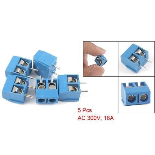 5 Pcs 2P 5mm Pitch PCB Screw Terminal Block Connector 20 pcs 126 3p 3pin 5mm pitch screw terminal block 300v 10a