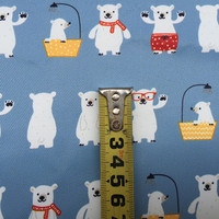 Cartoon graffiti polar bear digital printing waterproof polyester cloth