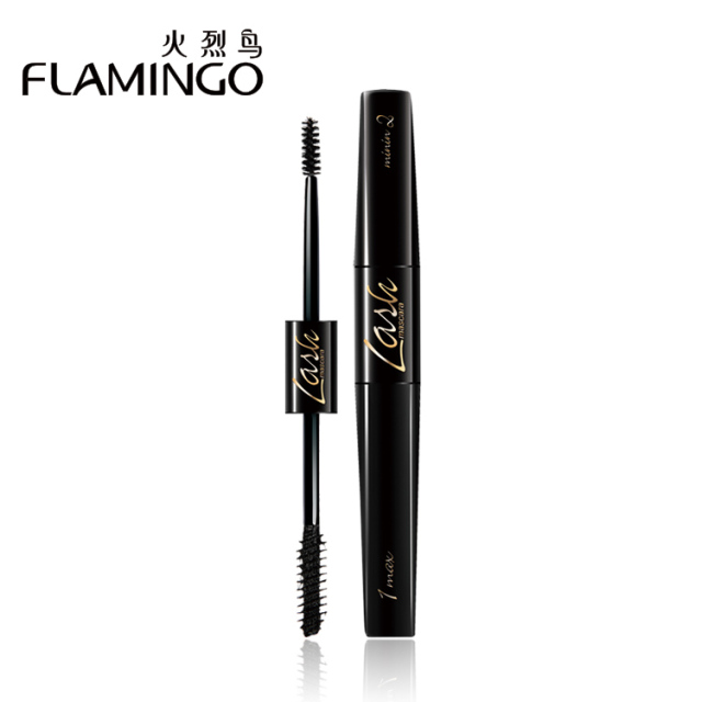 Free Shipping China Top1 Mascara Brand Flamingo Lengthening mascara thick dual perspective Double Visual Angle Mascara 62001