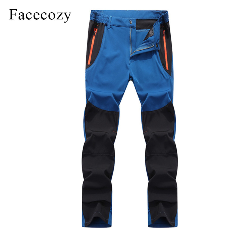 Facecozy Men Outdoor Breathable Fishing Pants Hiking Quick Dry Climbing Sport Pants Elastic Thin Anti-UV Trousers Male Pantolon