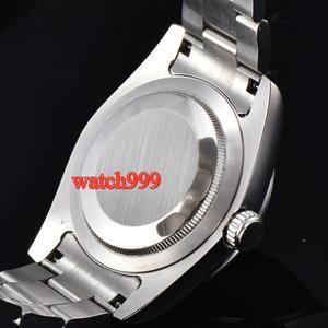 Image 4 - 40mm BLIGER זוהר מכאני גברים שעון ספיר קריסטל שחור חיוג אוטומטי mens שעון
