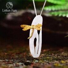 Lotus Fun Real 925 Sterling Silver Handmade Fine Jewelry Lea