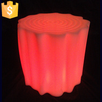 LED plastic stool light up bar stool illuminated bar Outdoor and indoor fancy plastic flashing Bar chair Free shipping 10pcs/Lot