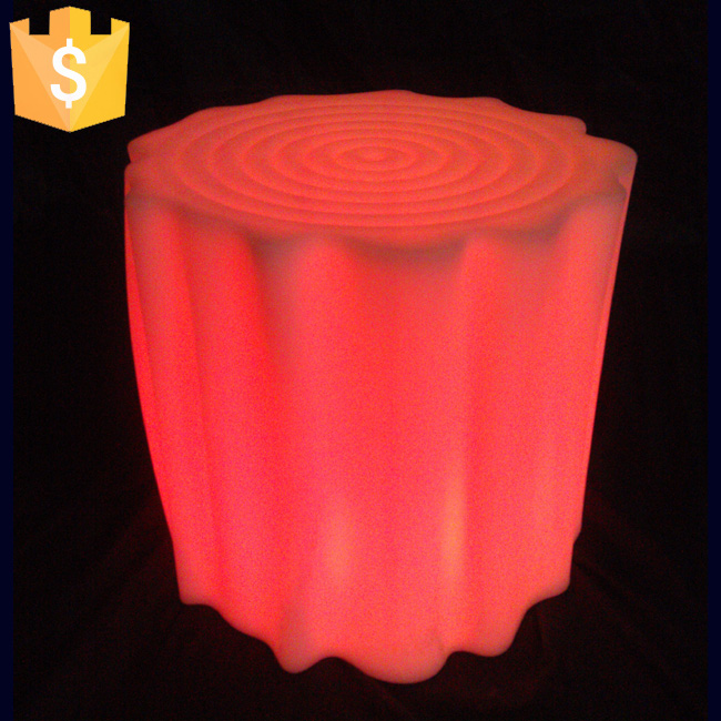 LED plastic stool light up bar stool illuminated bar Outdoor and indoor fancy plastic flashing Bar chair Free shipping 10pcs/Lot led bar furniture flashing chair light led bar stool cube glowing tree stool light up bar chairs free shipping