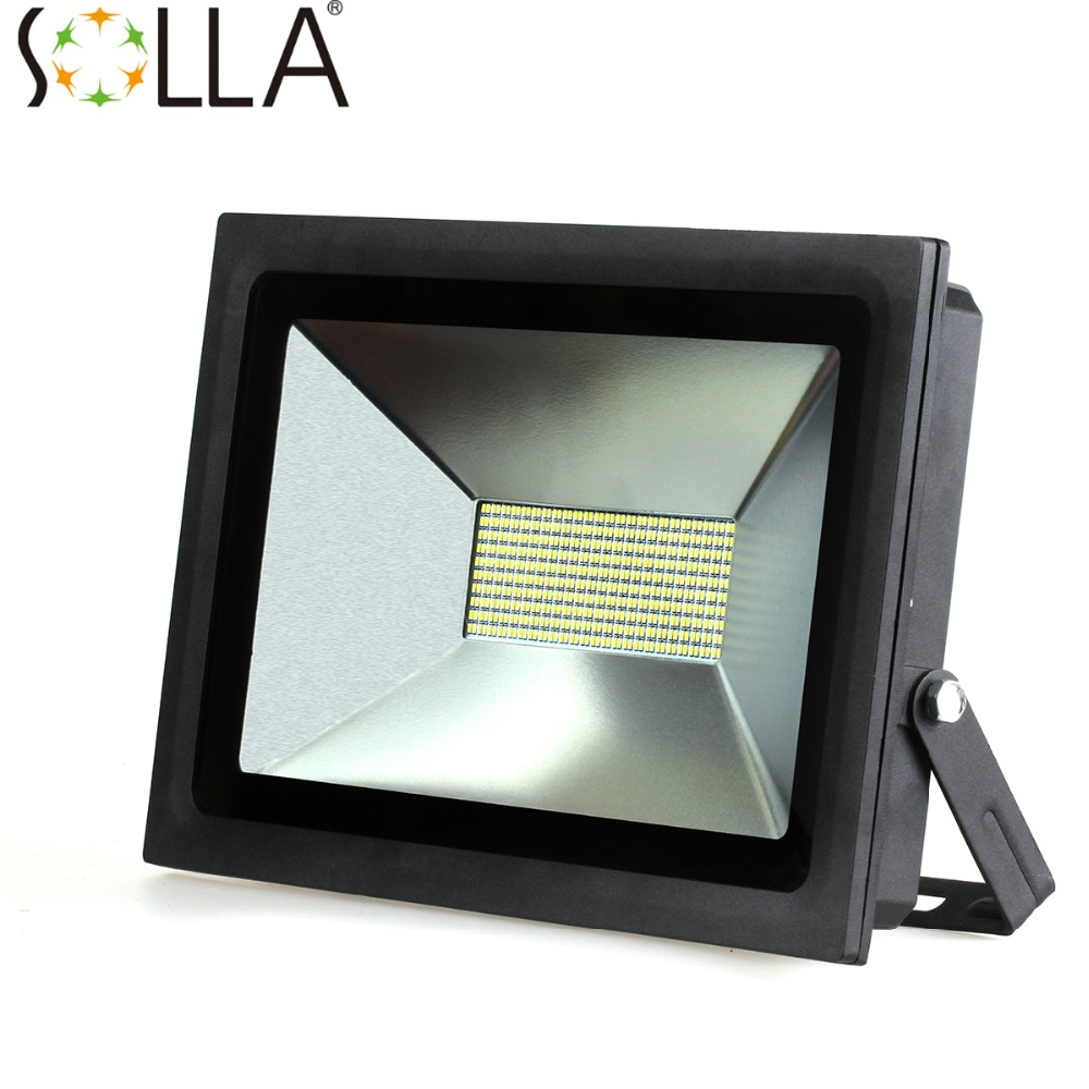 Ultrathin LED Flood Light 100W  AC85-265V  Lndustrial Light Waterproof IP65 Floodlight Spotlight Outdoor Lighting Freeshipping ultrathin led flood light 100w 150w 200w black garden spot ac85 265v waterproof ip65 floodlight spotlight outdoor lighting