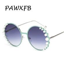 PAWXFB 2018 el más nuevo de lujo perla aleación gafas de sol moda gafas  Vintage Eyewear Lunettes de soleil sombras 6f2ef7707f08