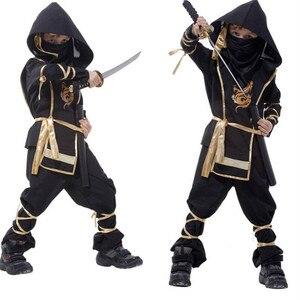 Image 3 - Na urodziny chłopca dzieci Ninja przebranie na karnawał Halloween ponury żniwiarz wojownik dzieci szermierz Party S XXL