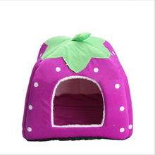 Soft Cute Pet Dog House Fabric Warm Cotton Beds for Cat Small Dogs
