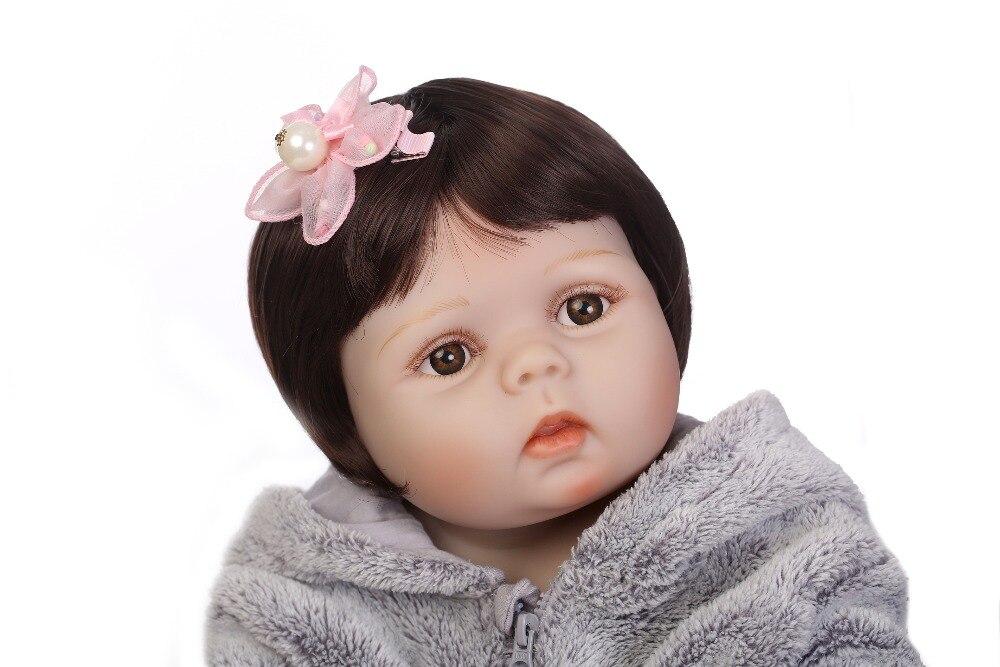 NPK 56 cm réaliste bebe bonecas pleine silicone bébé fille avec belle stress meilleurs enfants cadeau silicone reborn bébé poupées-in Poupées from Jeux et loisirs    3