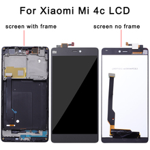 100% Tested Working LCD Display Touch Screen Digitizer Assembly with Frame For Xiaomi Mi4c Mi 4c M4c Phone Replace Parts цена и фото