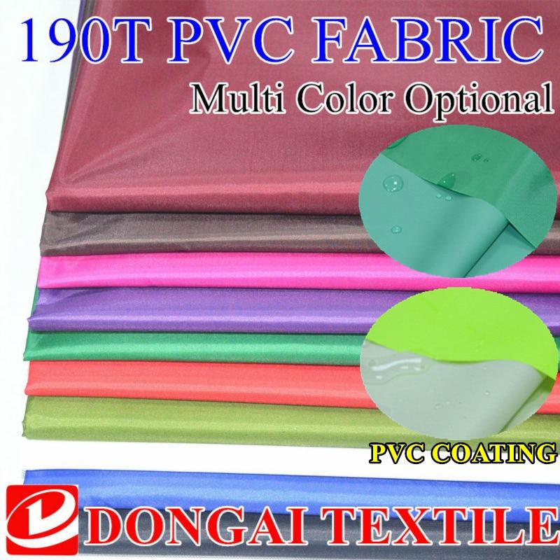 100 cm * 150 cm Polyester kumaş 190 T Tafta pvc kumaş / Önlükleri Kumaşlar / Yağmurluk kumaşlar