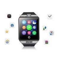 Bluetooth smart watch men q18 com tela sensível ao toque grande suporte de bateria tf cartão sim|smart watch ips|bluetooth smart watch|smart watch -