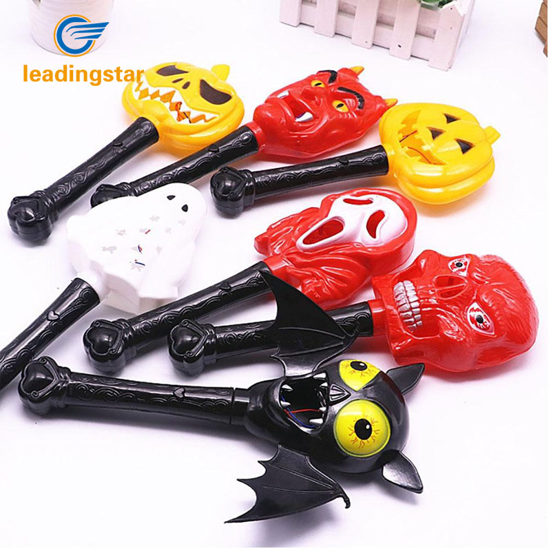LeadingStar Children Hallowmas Funny Prank Toy Holiday Decorative Prop with Light, Magical Wand for Stage Set zk15