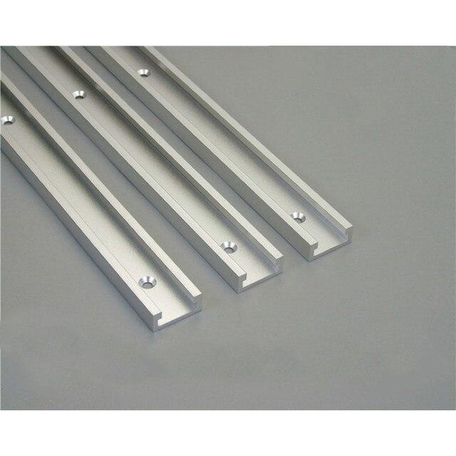 """1 יחידות T מסלולים אלומיניום חריץ מצנפת מסלול לנענע מתקן נתב שולחן Bandsaws נגרות כלי אורך 300/ 400/600/800 מ""""מ"""
