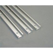 Fixation pour gabarit de rainure en T, en aluminium, pour la Table de toupie, scies à bandes, menuiserie, longueur de loutil 300/400/600/800mm, 1 pièce