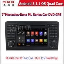 Android5.11 HD 1024*600 screen car dvd player GPS Navi For Mercedes/Benz/GL ML CLASS W164 X164 ML350 ML450 GL320 GL450
