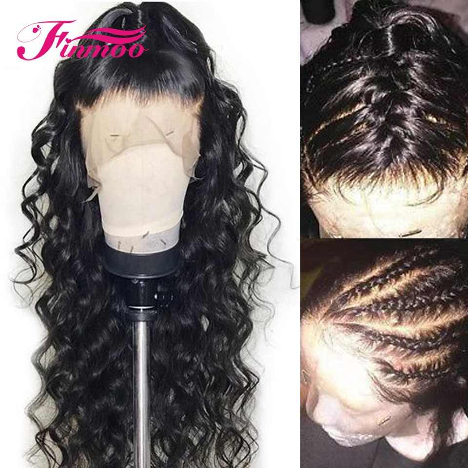 Loose Wave Full Lace Wig Malaysia Remy Hair With Baby Hair Bleached Knots Full Lace Human Hair Wigs Pre Plucked Hairline 180%