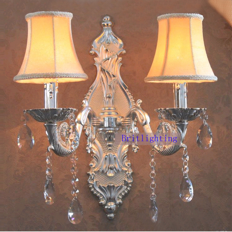 Large Brass Wall Sconce Silver Finish Candles Holder KTV Wall Lamp 5 Star  Hotel Wall Lights Bedside Lamps Modern Wall Mount In Wall Lamps From Lights  ...
