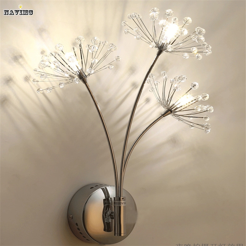 Modern LED Wall Lamps Wall Light Sconces Bedside Reading Light Dandelion Design Wall Decors for Bedroom Night Light sconces chinese style wall lamps reading lights fixture decorative night light for pathway staircase bedroom lamp fixtures