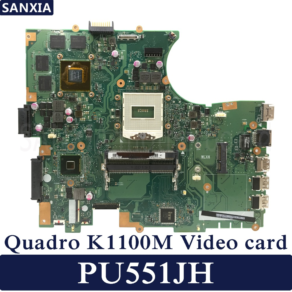 KEFU PU551JH Laptop motherboard for ASUS PU551JH PU551J PU551 Test original mainboard N15P-Q1 Quadro K1100M 2GB Video card все цены