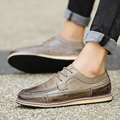 Retro British Style Men Shoes Leather Luxury Brand Platform Shoes Men High Quality Thick Bottom Men Brogue Shoes Leather