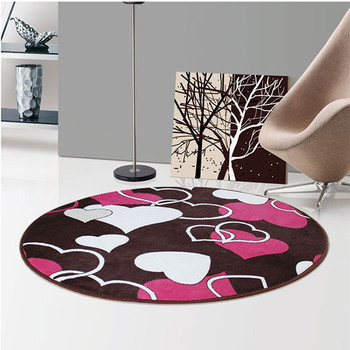 New Kids Bedroom Carpet Cartoon Pink Circle Children Round Play Carpet Computer Chair Hanging Basket Puzzle Mats image