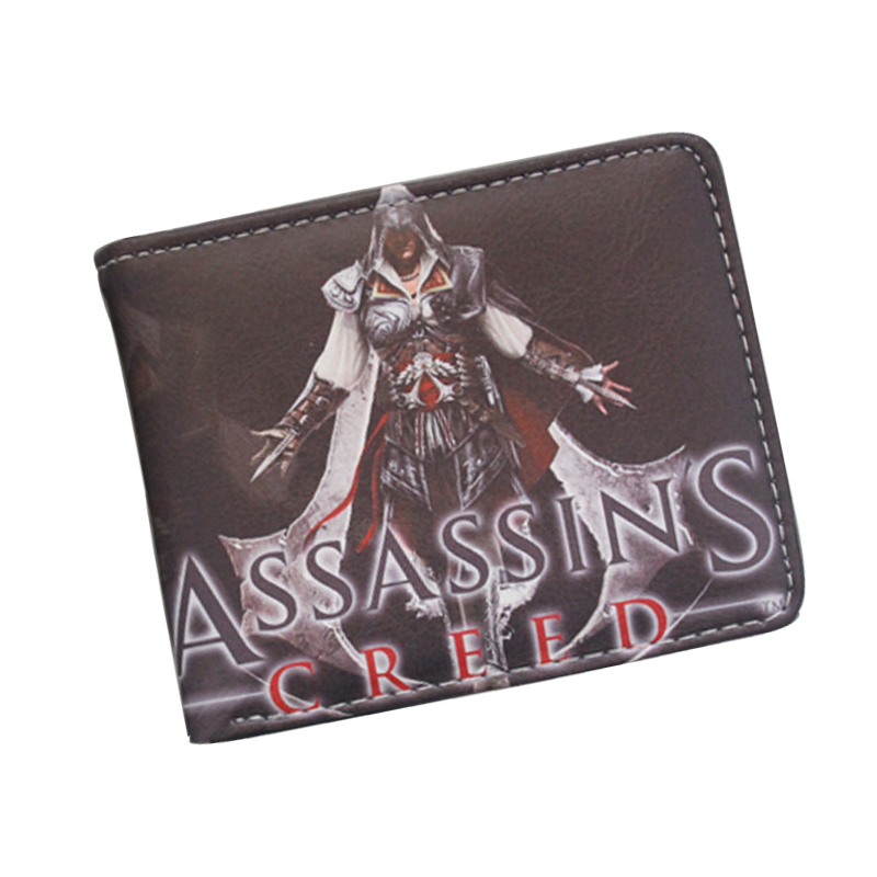 Cool Game Wallet Assassins Creed Master Assassin Altair Wallet For Young Boy Girl Student Leather Short Money Bag Wallet Purses