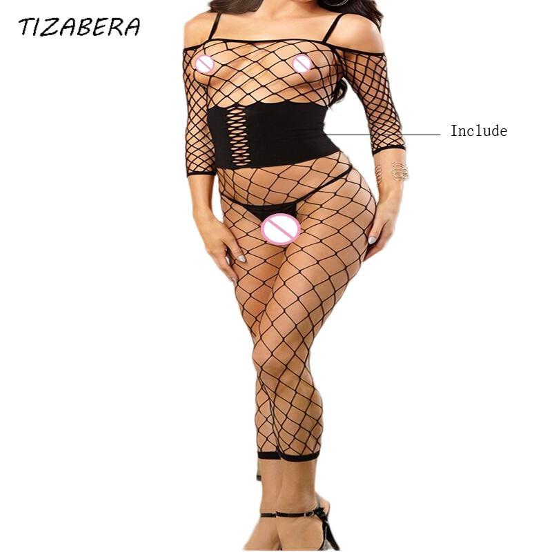 Buy Sexy Lingerie Women Hot Erotic Underwear Fishnet Intimates Sleepwear Sex Costumes Babydoll Lenceria Sexi Para Mujer QQ342