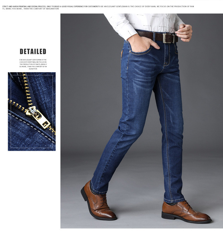 KSTUN Jeans Men Straight Regular Fit Stretchy Blue Black Business Casual Men's Long Trouers Fashion Spring Summer Jeans for Man Homme 11