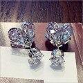 Mulheres Moda Jóias Cz Diamante Projeto Pirilampo Platinadas Brincos de Presente