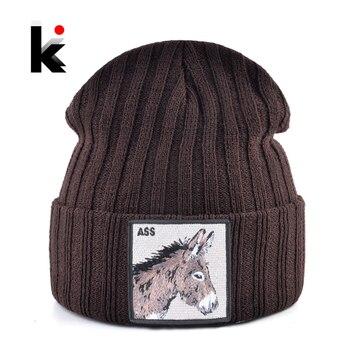 2019 New Knitted Beanies Hat Men Women Warm Knitting Solid Skullies Caps Spring Autumn Soft Bonnet Hats Fashion Hip Hop Gorras 1