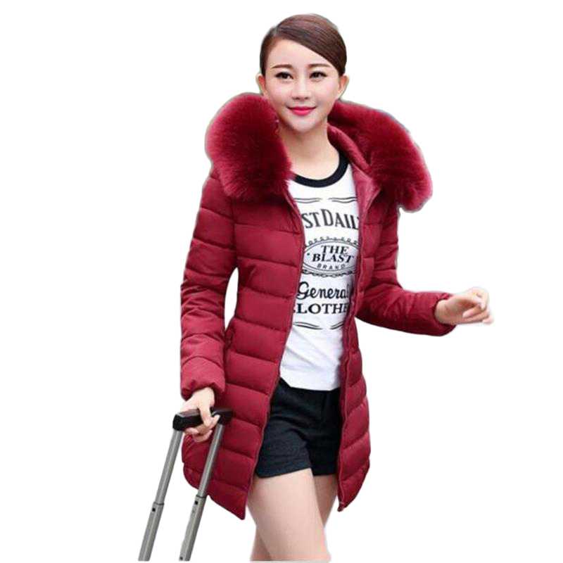 2017 new winter fashion winter jacket women Nagymaros collar thick padded warm cultivating cotton womens down