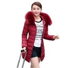 2017 новая зимняя мода зимняя куртка женщины Надьямарош воротник толщиной проложенный теплый выращивания хлопка женские пуховики