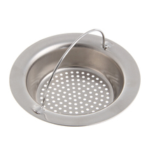 Kitchen Sink Strainer Waste Plug Drain Stopper Filter Basket Stainless Steel New