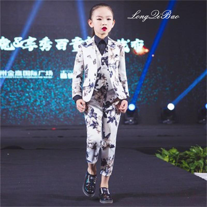 Childrens suit set three-piece 2018 spring and summer new boys dress girls suits small suit costumes Childrens suit set three-piece 2018 spring and summer new boys dress girls suits small suit costumes