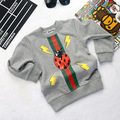 5pcs/lot Baby Boys T shirts kids children long sleeve Ladybug Girls sweatshirts