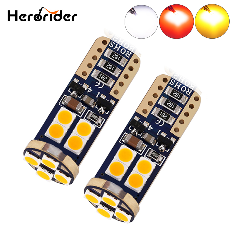 Herorider 12V 3030 T10 194 168 w5w Parking Light 4300K 5000K 6000K White SMD Car Led t10 Interior Wedge Auto Lamp 12v Light Bulb super bright white t10 w5w 50w 10 smd drl led bulb car auto wedge reverse signal light lamp 194 168 hot selling