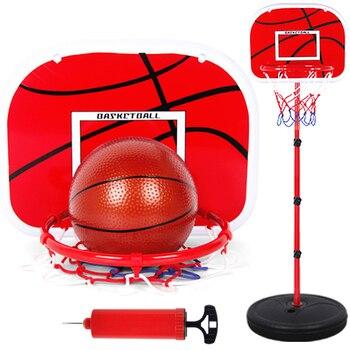63-165 см баскетбольные стойки с регулируемой высотой для детей, баскетбольная цель, Набор игрушечных колец для баскетбола для мальчиков, Аксе...