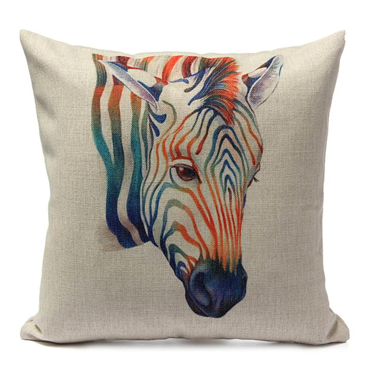 European cartoon animal giraffe printed pillow case cover for Cheap european pillows