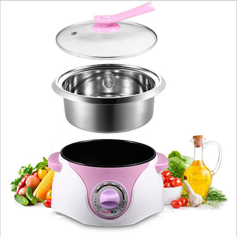 220V Electric Cooker Separable Multifunction Electric Hot Pot 3L Stainless Steel Inner 6 Gear Temperature Control multivarka midea brand kitchen cooker with 24 hours preset 3 8mm inner pot and non stick auto keep warm precision steam cooker