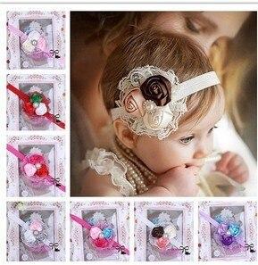 New Style Beautiful lace Headband hairband Baby Girls flowers headbands,kids' hair accessories Baby Christmas gift MQ1307