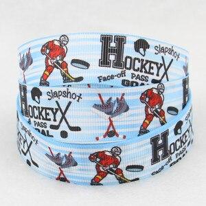 Image 2 - Q & N wstążka 7/8 cal 22mm 160912030 hokej drukowane ryps wstążka taśmy 50 metrów/rolka na opaska do włosów darmowa wysyłka